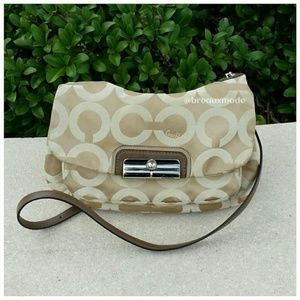 Coach - Kristin Op Art Sateen Signature Bag
